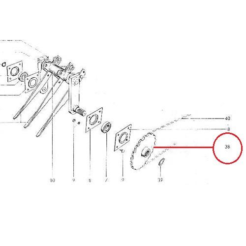 Γρανάζι Τροφοδότη Ζ34 ατσάλι (ίσιο)