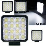 Τετράγωνος προβολέας LED 48W 30° δουλεύει από 12V έως καί 32V για βάρκες τρακτέρ φορτηγά αυτοκίνητα
