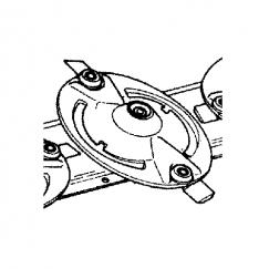 Κορώνα Ζ23 με σφήνα Δ123