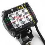 Προβολέας LED 18W  δουλεύει από 12V έως καί 32V για βάρκες τρακτέρ φορτηγά αυτοκίνητα